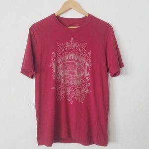Lucky Brand Red Road House Tavern Graphic Tee